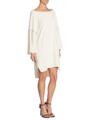 Flounce Sleeve Hi-Lo Dress