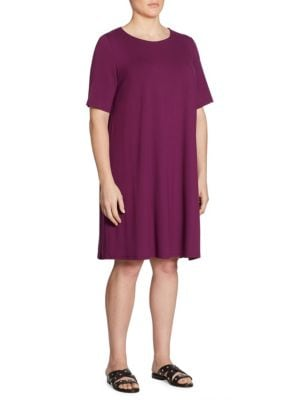 Jersey Shift Dress by Eileen Fisher, Plus Size