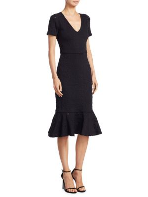 Des Jacquard Midi Dress