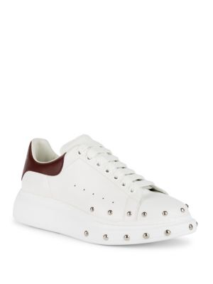 Stud Front Low Leather Sneakers
