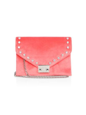 Signature Lock Crossbody Chain Clutch