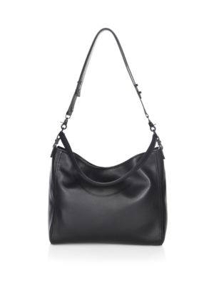 Leather Crossbody Hobo Bag