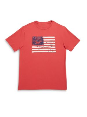Toddlers, Little Boys and Boys American Flag Graphic Tee