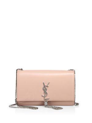 Medium Kate Smooth Leather Tassel Chain Shoulder Bag