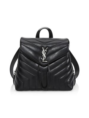 Small Lou Lou Silvertone Leather Backpack