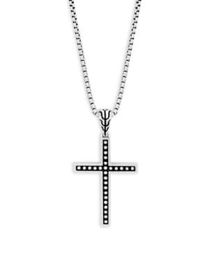 Silver Classic Cross Pendant Necklace