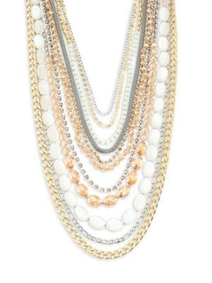 Multi-Row Two-Tone Necklace