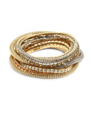 Multi Crystal Stretch Bracelet Set