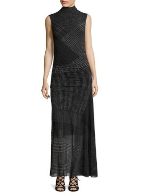 Houndstooth-Print Tank Dress