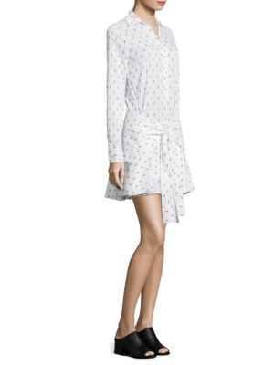 Fil Coupe Tie-Front Shirtdress