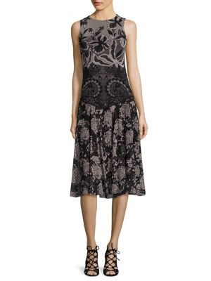 Buy Fuzzi Floral Pint Tulle A-Line Dress online with Australia wide shipping