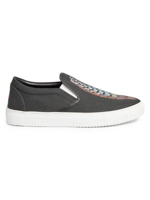 Genek Feather Lauren Print Slip-On Sneakers