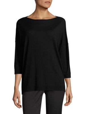Oversized Boat Neck Top by Lafayette 148 New York