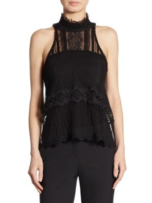 Tulle & Lace Racerback Top