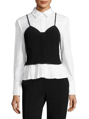 Layered Bustier Blouse by Yigal Azrouel