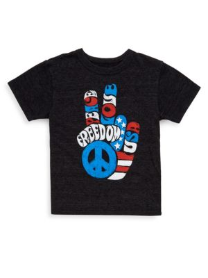 Toddler's & Little Boy's Freedom Fingers Triblend Tee