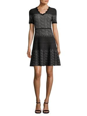 Snakeskin-Print Wool Dress