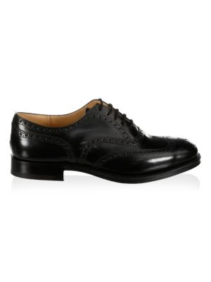 Brogued Leather Oxfords