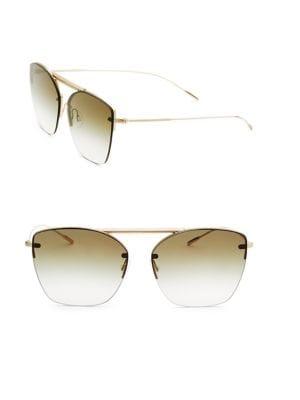 Ziane, 61MM, Gradient Round Sunglasses