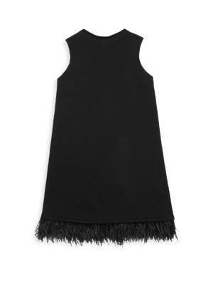 Girl's Feather Swing Dress