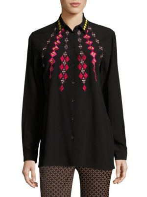Embroidered Silk Shirt by Etro
