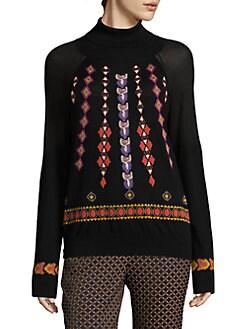 c2305756eb6 Etro. Embroidered Wool Turtleneck Sweater