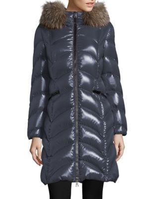Albizia Removable Fox Fur Puffer Coat