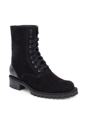 Leather & Suede Combat Boots