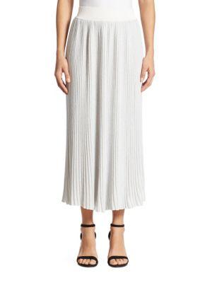 Midi Ribbed Knit Skirt