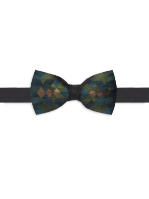 BRACKISH | Keel Satin Feather Bow Tie | Goxip