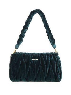 Matelassé Velvet Shoulder Bag