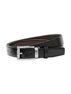 Reversible Cut-To-Size Leather Business Belt