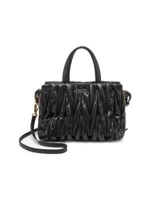 Matelasse Leather Satchel Bag