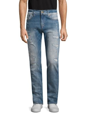 Rocco W Flap Slim Fit Distressed Jeans