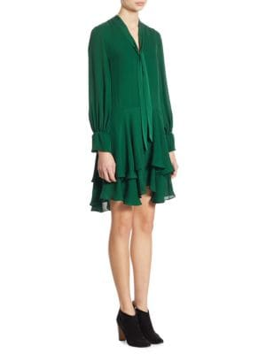 Moore Tiered Silk Tunic Dress
