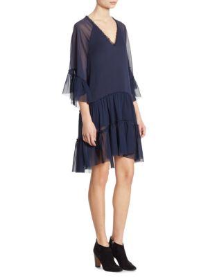 Zoey Ruffled Tiered Tunic Dress