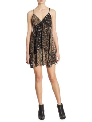 Buy Alice + Olivia Delilah Tiered Floral-Print Dress online with Australia wide shipping