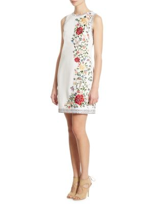 Nat Embroidered Studded Mini Dress
