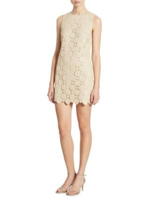 Clyde Metallic Lace Shift Dress