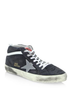 Star Leather Mid-Top Sneakers