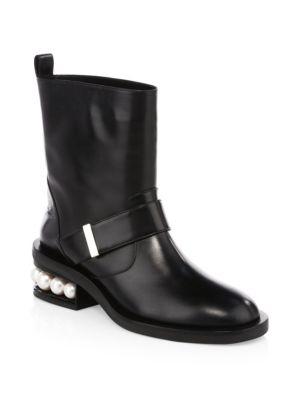 Casati Pearl Leather Biker Boots
