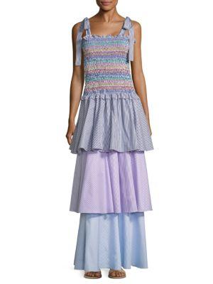 Ellis Tiered Striped Maxi Dress