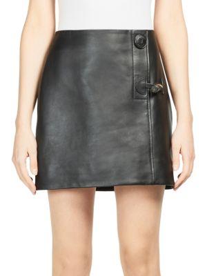 Lise Leather Mini Skirt