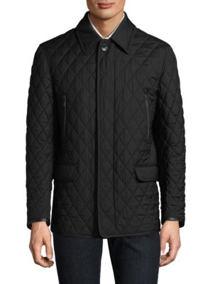 Diagonal Pattern Quilted Jacket
