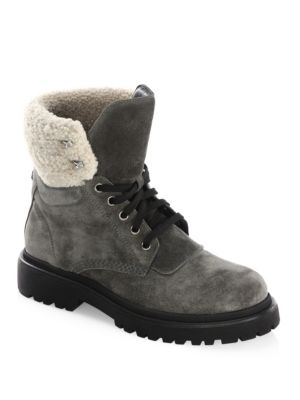 MONCLER Patty Faux Shearling Boots