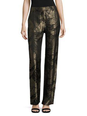 Metallic Silk Trouser