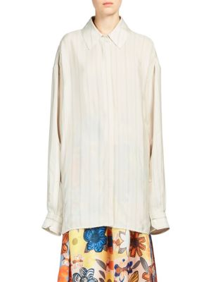 Britta Button-Front Shirt by Acne Studios