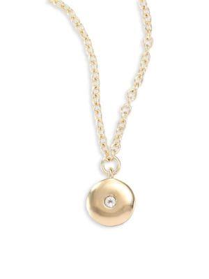 Raina White Topaz Pendant Necklace