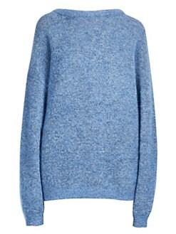 아크네 스튜디오 Acne Studios Boatneck Longline Sweater,Grey