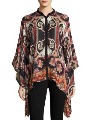 Wool & Silk Poncho